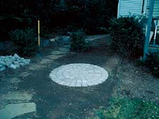 Unilock Circle with Fountain (Step 1)