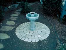 Unilock Circle with Fountain (Step 3)