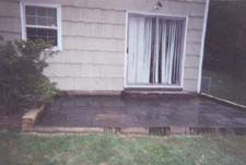 Blue/Gray Flagstone Patio (After Picture)