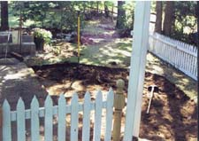 Blue/Gray Flagstone Patio (Before)