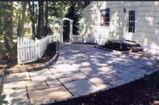 Blue/Gray Flagstone Patio (After)