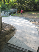 Custom UniLock Patio Installation