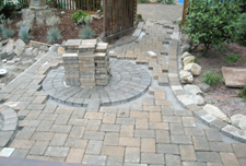 Paver Project Started April 2009 with Circle and Steps