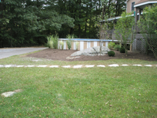 Stone Walkway and Landscape Project Completed October 2009