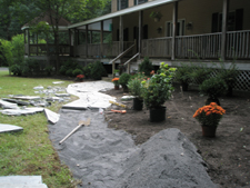 Stone Walkway Installation and Planting Design Started September 2009