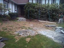 Blue Stone Walkway (before)