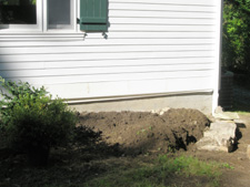 Corner Retaining Wall (Before)